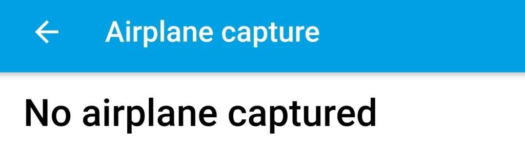 No airplane captured' | Explane org